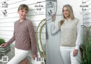 King Cole Ladies Sweater & Top Authentic Knitting Pattern 4127  DK