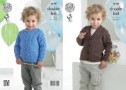 King Cole Boys Sweater & Cardigan Comfort Knitting Pattern 4149  DK