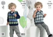 King Cole Boys Sweater & Slipover Comfort Knitting Pattern 4150  DK