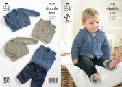 King Cole Baby Waistcoat, Cardigan, Slipover & Sweater Big Value Knitting Pattern 4154  DK