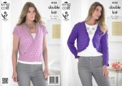 King Cole Ladies Sweater & Bolero Smooth Knitting Pattern 4163  DK
