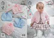 King Cole Baby Cardigans & Waistcoats Cuddles Knitting Pattern 4175  Chunky