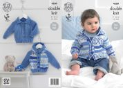 King Cole Baby Cardigans Cherish Knitting Pattern 4200  DK