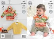 King Cole Baby Sweaters & Tank Top Cherish Knitting Pattern 4201  DK