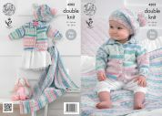 King Cole Baby Cardigans, Blanket & Beret Cherish Knitting Pattern 4202  DK