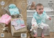 King Cole Baby Cardigan & Waistcoats Melody Knitting Pattern 4209  DK