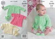 King Cole Baby Matinee Coats, Cardigans & Shoes Comfort Knitting Pattern 4214  DK