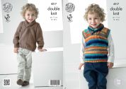 King Cole Boys Sweater & Tank Top Big Value Knitting Pattern 4217  DK