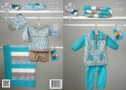 King Cole Baby Sweaters, Blanket & Hat Comfort Knitting Pattern 4226  Chunky