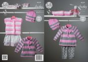 King Cole Baby Sweater, Cardigan & Hat Comfort Knitting Pattern 4229  Chunky