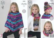 King Cole Girls Poncho, Hat, Scarf & Cowl Big Value Knitting Pattern 4242  Chunky