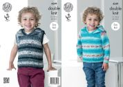 King Cole Boys Sweater & Slipover Splash Knitting Pattern 4249  DK