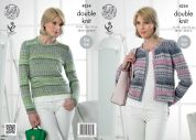 King Cole Ladies Cardigan & Sweater Drifter Knitting Pattern 4254  DK