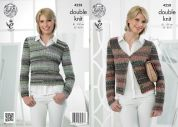 King Cole Ladies Cardigan & Top Drifter Knitting Pattern 4258  DK