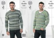 King Cole Mens Sweaters Drifter Knitting Pattern 4261  DK