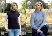 King Cole Ladies Sweater & Slipover Panache Knitting Pattern 4263  DK