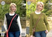 King Cole Ladies Sweater & Slipover Panache Knitting Pattern 4264  DK
