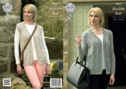 King Cole Ladies Cardigan & Waistcoat Panache Knitting Pattern 4265  DK