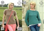 King Cole Ladies Raglan Sweaters Panache Knitting Pattern 4269  DK