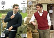 King Cole Mens Sweater & Slipover Panache Knitting Pattern 4272  DK