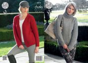 King Cole Ladies Cardigan & Sweater New Magnum Knitting Pattern 4274  Chunky