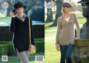 King Cole Ladies Cardigan & Sweater New Magnum Knitting Pattern 4275  Chunky