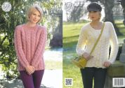 King Cole Ladies Sweater & Cardigan New Magnum Knitting Pattern 4278  Chunky