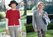 King Cole Ladies Cardigans New Magnum Knitting Pattern 4280  Chunky