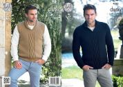 King Cole Mens Sweater & Slipover New Magnum Knitting Pattern 4283  Chunky