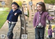 King Cole Childrens Cardigans New Magnum Knitting Pattern 4284  Chunky