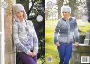 King Cole Ladies Cardigans Big Value Knitting Pattern 4287  Super Chunky