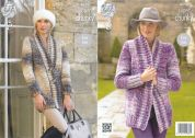 King Cole Ladies Jackets Big Value Knitting Pattern 4290  Super Chunky