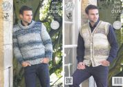 King Cole Mens Sweater & Waistcoat Big Value Knitting Pattern 4293  Super Chunky