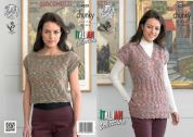 King Cole Ladies Tunic & Top Verona Knitting Pattern 4301  Chunky