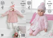 King Cole Baby Coats & Hat Smarty Baby Knitting Pattern 4315  DK