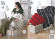 King Cole Home Blanket, Throw & Cushion Urban Knitting Pattern 4335
