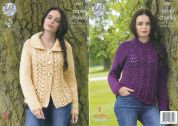 King Cole Ladies Sweater & Cardigan Big Value Knitting Pattern 4361  Super Chunky