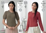 King Cole Ladies Sweaters Baby Alpaca Knitting Pattern 4364  DK