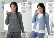King Cole Ladies Raglan Sweater & Cardigan Baby Alpaca Knitting Pattern 4365  DK