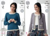 King Cole Ladies Jacket & Sweater Baby Alpaca Knitting Pattern 4367  DK