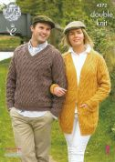 King Cole Ladies & Mens Cardigan & Sweater Merino Knitting Pattern 4372  DK