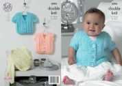 King Cole Baby Cardigans & Waistcoat Big Value Knitting Pattern 4394  DK