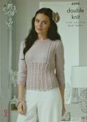 King Cole Ladies Sweater & Cardigan Glitz Knitting Pattern 4398  DK