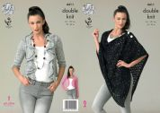 King Cole Ladies Cardigans & Wrap Galaxy Knitting Pattern 4411  DK