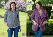 King Cole Ladies Jacket & Sweater Knitting Pattern 4422  Chunky