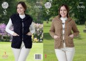 King Cole Ladies Jacket & Waistcoat Knitting Pattern 4423  Chunky