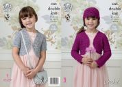 King Cole Girls Boleros Galaxy Crochet Pattern 4426  DK