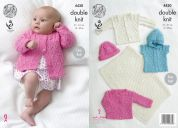 King Cole Baby Blanket, Jackets, Gilet & Hat Cottonsoft Knitting Pattern 4430  DK