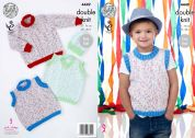 King Cole Boys, Sweaters, Tank Tops & Hat Smarty Baby Knitting Pattern 4449  DK