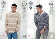 King Cole Mens Sweaters Vogue Knitting Pattern 4461  DK
